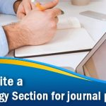How To Write a Methodology Section for journal publication